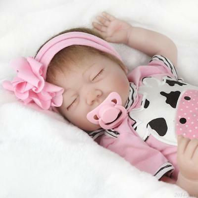 "22"" Realistic Reborn Baby Dolls Newborn Sleeping Girl Dolls Handmade Lifelike"
