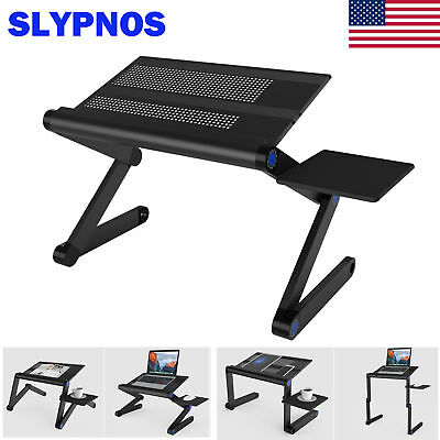 PC Tablet Laptop Stand Riser Desk Notebook Adjustable Holder W/ Front Mouse Tray