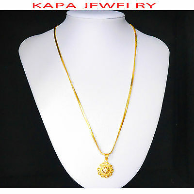 22k Real Looking Gold Black Beads Necklace Chain Kapa Jewelry Costume Jewellery