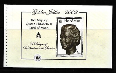 2002 Isle of Man, Golden Jubilee, NH Mint Booklet Pane, SG ms975b
