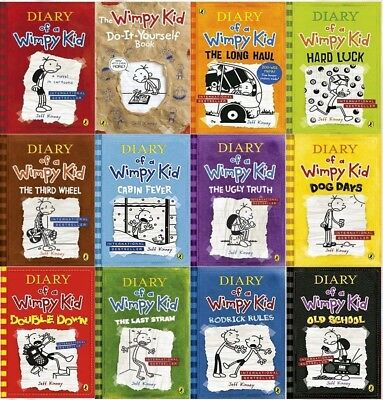 Diary of a Wimpy Kid Collection Book Set [12 Books] by Jeff Kinney ✔NEW✔
