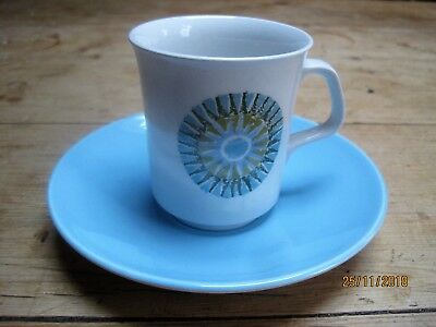 Vintage Retro 60's J&G Meakin cup and saucer Aztec Design by Alan Rogers