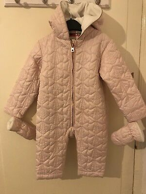aed461bd4 TED BAKER SNOWSUIT BABY GIRL WINTER PRAM-SUIT WHITE COAT JACKET Fab ...
