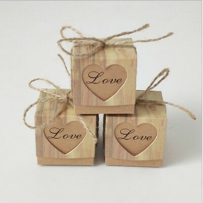 10Pcs/set Kraft Paper Favor Small Box Wedding Party Favor Gift Xmas Candy Box HS