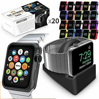Apple Watch Case Cover 20-Pack 38mm 42mm Orzly Compact Stand Protective Shell