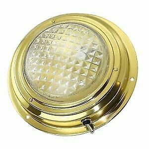 Dome Ceiling Light 155mm Brass 12V 15W SEAWORLD