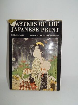Masters of the Japanese Print by Richard Lane - Inscribed and Signed