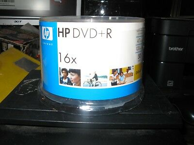 50-Pack hp Blank DVD-R  16X 4.7GB  Recordable Media Disc