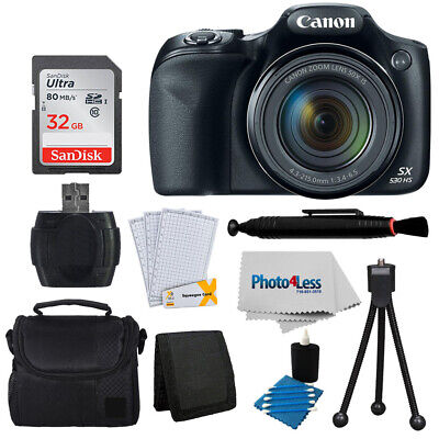 Canon PowerShot SX530 HS Camera + 32GB Memory Card + Great Value Accessories
