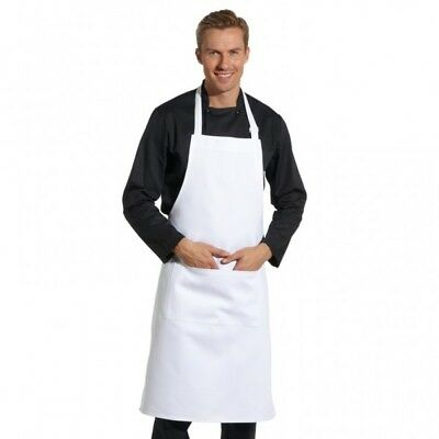White Bib Apron For Catering Cooking Professional Chef Aprons