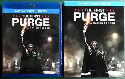 The First Purge, Blu-ray + DVD + Digital, FREE SHIPPING, SEALED, SLIPCOVER, 2018