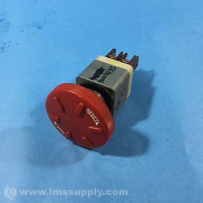 Switch V R02 Red Twist Push Button Contactor Fuji Electric AH22-V