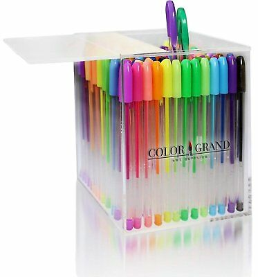 Gel Pens Set for Adult Coloring Books - 100 Glitter Colored Pens Drawing...