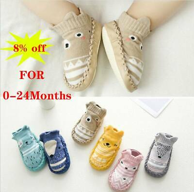 Baby Kid Toddler Cartoon Anti-slip Sock Shoes Boots Floor Slipper Boy Girl Socks