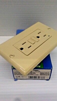 Leviton 7599-I Smartlockpro Lighted with Wall Plate GFCI IVORY FREE SHIPPING