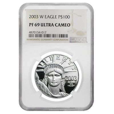 2003 W 1 oz $100 Platinum American Eagle Proof Coin NGC PF 69 UCAM