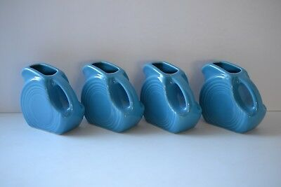 MINI DISC PITCHER Lot of 4 ~ Peacock 2nds ~ Contemporary Fiesta Ware