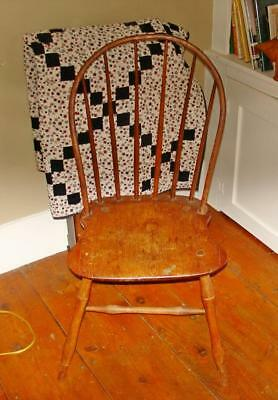 Early Primitive Pine Chair Signed in Script by Wallace Nutting to Wm. Koefer??