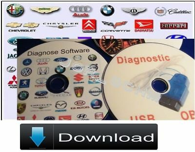 OBD CANBUS Diagnose mit Diagnosesoftware und Dokumentationen 2x Down.L