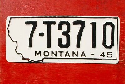 1949 Montana Mint Unissued  PRISON MADE 7-T3710 License Plate