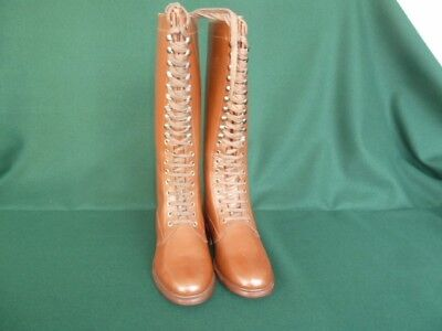 WW 1 to WW 2 French style knee high lace-up boots. Size 10