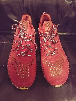 acc1e3c27ecb29 Men s Adidas Alphabounce LEA Running Shoes Maroon Red   Khaki Sz 8.5 CQ1189