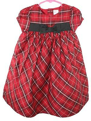 a3b0ec33524c7 Gymboree Toddler Girls Red Plaid Cap Sleeve Holiday Dress Size 18-24 Months