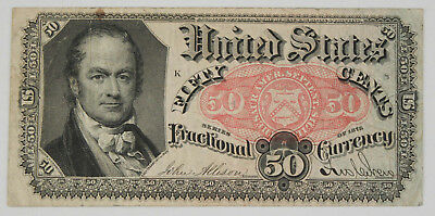 1874-1876 50 Cent Fractional Currency Note 5th Issue VF/XF Fr-1380