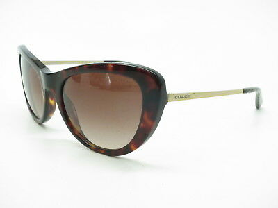 9747baaf29f34 New Coach HC 8247 (L1039) 541713 Dark Tortoise w Smoke Brown Gradient  Sunglasses