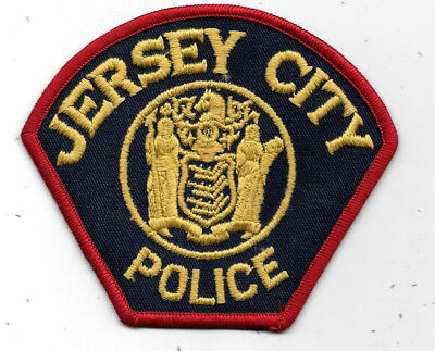 """Police Patch: Jersey City New Jersey Police Patch Measures 4 1/2"""" X 4"""""""