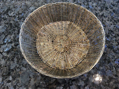 Vintage Silver Plated Bread Basket With Linens