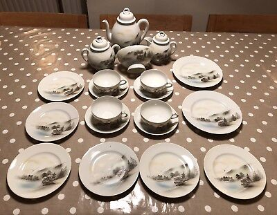 Antique Chinese Porcelain China tea set