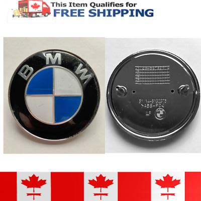 Car Emblem Chrome Badge Logo 82mm 2 Pins For BMW Hood/Trunk