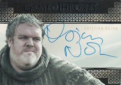 Game of Thrones Valyrian Steel, Kristian Nairn 'Hodor' Autograph Card
