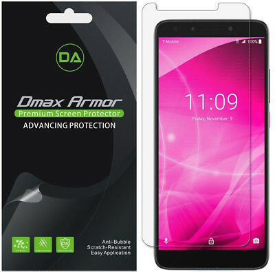 6-Pack Dmax Armor HD Clear Screen Protector shield for T-Mobile Revvl 2 Plus