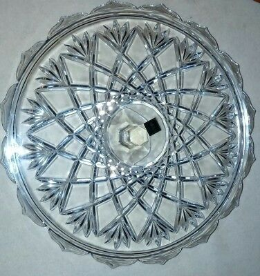 "Vintage Mikasa  Crystal Crown Jewel Footed Cake Plate 14 1/4"" Slovenia"