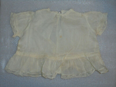 Vintage Doll Clothes 1940s 1950sWhite Dress With Ruffles & Lace
