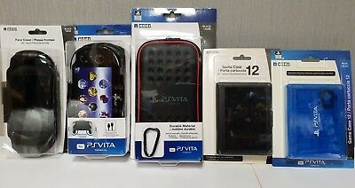 HORI OFFICIALLY LICENSED Set Of 5 Accessories For Ps Vita 1000 New