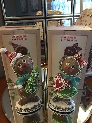 Cracker Barrel Exclusive 2-piece Gingerbread Boy & Girl with Boxes - Sold Out