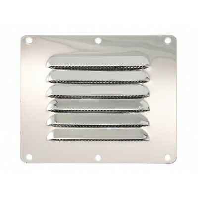 Stainless Steel Louver Vent Panel 116x128mm