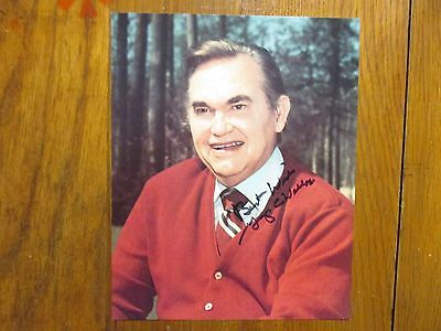 GEORGE  WALLACE(Died in 1998)(Alabama 4-Term Governor)Signed 8 x 10 Color Photo