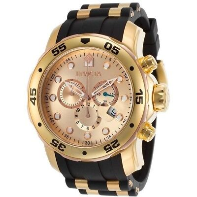 Invicta Men's 17884 Pro Diver 18k Gold Ion-Plated Stainless Chronograph Watch