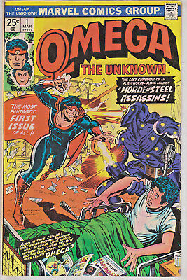Omega The Unknown#1 Fn/vf 1976 Marvel Bronze Age Comics