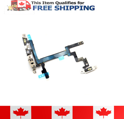 iPhone 5 Power Button Control Flex Cable With Brackets