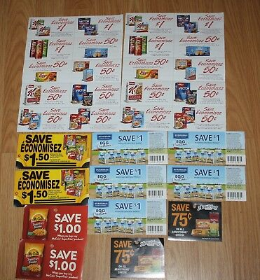 Canada Food Coupon Lot Armstrong McCain, General Mills, Kellogg's Egg Creations