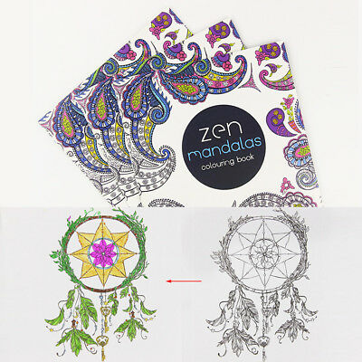 XUES® 24Pages/Lot Mandalas Flower DIY Coloring Book For Children Adult Relieve