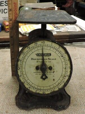 Antique Old Household Metal Counter Scale, Works, AAFA, (L)