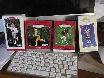 Hallmark Football Ornaments Lot - Christmas Special Price - Legends - Last Ones
