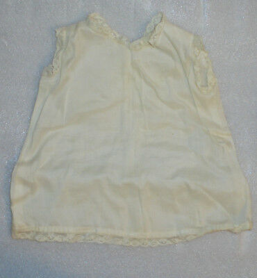 Vintage Doll Clothes 1940s 1950s White Sleevless Dress-Ruffles