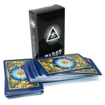 Full English gold tarot cards mysterious Bright gilded playing cards game